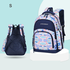 girls bags with flower patterns and same type pen box pen pocket colorful children book bags royal blue s