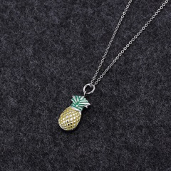 Cute Pineapple Necklace Make Her Summer Cool steel average