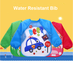 Water Resistant Bib 3pcs set with long sleeves Smart Choice for Feeding Your Baby Random 3pcs for Girls 1-4 years old