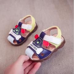 Summer Shoes Boy Shoes Baby Shoes Sandals Prewalker Shoes with Gum rubber Outsole blue 16