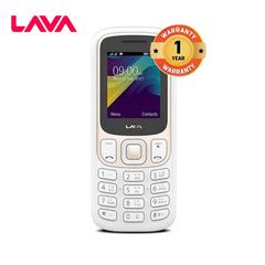 Lava C1 2.4 Inch Screen Dual Sim 1000 mAh Smartphone Mobile Phone white