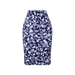Geometric Chips print women pencil skirts lady midi saias female faldas girls slim bottoms S-4XL WWP052 S