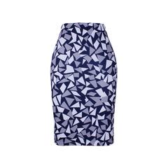Geometric Chips print women pencil skirts lady midi saias female faldas girls slim bottoms S-4XL WWP052 XXL
