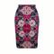S-4XL girl pencil skirt Gorgeous Blooming Rose flower print fashion women midi bottoms S-4XL WWP081 S