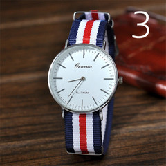 Men Watches Fashion Casual Quartz Watch Geneva Fabric Nylon Canvas Military Wristwatch 1 one size fits all