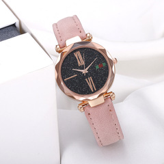 Best Selling Star With The Same Watch Starry Matte Belt Quartz Watch pink one size