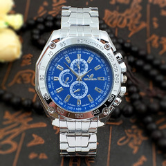 Selling Classical Watch Men's Men's Steel Belt Quartz Watch blue one size fits all