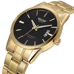 Fashion watchs men Gold-plated Watch & Gold-plated Bracelet Set Gold one size fits all