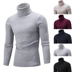 Men Fashion Pull Neck Black M Sweater