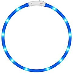 LED Dog Collar, Glowing pet Dog Collar for Night Safety, Fashion Light up Tube Flashing Tube Collar blue adjustable