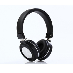New Wireless Bluetooth Stereo Noise Isolation Over-Ear Headphone Support SD Card for Smart Phone black
