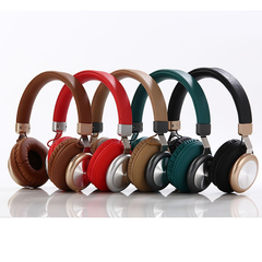 Super Bass Noise Isolation Over-ear Wireless Bluetooth Headsets  TF Card For Iphones Android black