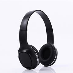 Trendy TF-card Bluetooth Wireless Headset With Aux Stereo For iPhone Huawei Smart Phone And PC black