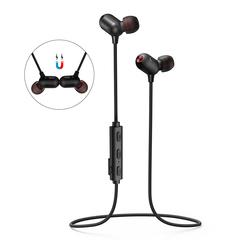 EKSA BT 4.2 IPX7 Waterproof In-ear Wireless Bluetooth Earphones Magnetic With Mic APT-X For Sports black