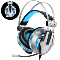EKSA Stereo Gaming Headset Noise Cancelling With Mic LED Light Bass Surround For Laptop PS4 PC Games blue