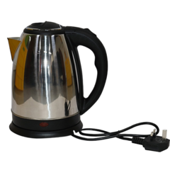 Lyons Silver & Black Cordless Stainless Steel Electric Kettle - 1.8L silver