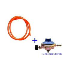 Gas Delivery Pipe 1.5M + 6Kg Gas Regulator -