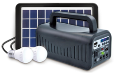 3W Fancy Solar System with radio and blue tooth function black, yellow 3W