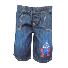 Dorris and Morris -Baby Toddler Boys Cartoon Shorts blue denim 2t