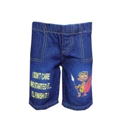Alladin-Dorris and Morris -Baby Toddler Boys Cartoon Shorts blue denim 2t