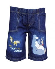 Dorris & Morris Baby Toddler Boys Cartoon Shorts blue denim 3t