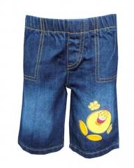 Alladin-Dorris & Morris Blue Toddler Boys Cartoon Shorts blue denim 2t