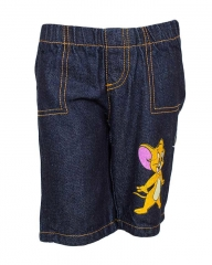 Dorris & Morris Denim Kids/Toddler Cartoon Star Jerry Shorts blue denim 3t