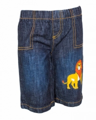 Dorris & Morris Blue Kids/Toddler Cartoon The Lion King Star Shorts blue denim 2t