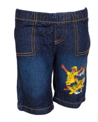 Dorris & Morris Blue Denim Kids Toddler Cartoon Hunter Shambu Shorts blue denim 2t
