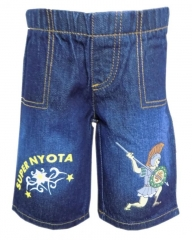 Dorris & Morris Blue Denim Kids/Toddler Cartoon Shorts blue denim 2t