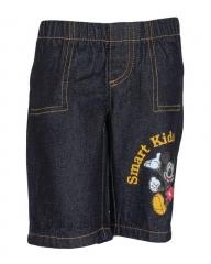Alladin-Dorris & Morris Denim Kids Toddler Cartoon Star Mickey Mouse Shorts blue denim 3t