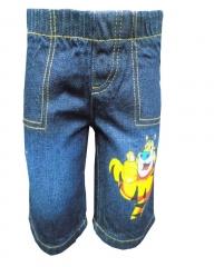 Alladin-Dorris & Morris Blue Denim Kids Toddler Cartoon Elephant Shorts blue denim 2t
