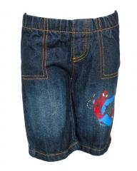 Alladin-Dorris & Morris Blue Denim Kids Toddler Cartoon Spider Man Star Shorts blue denim 2t