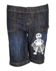 Alladin-Dorris & Morris Black Denim Kids Toddler Cartoon Zoo Zoo Shorts blue denim 2t