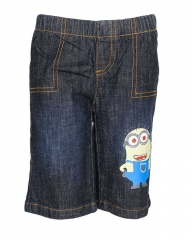 Alladin-Dorris & Morris Black Denim Kids Toddler Cartoon Minion shorts blue denim 2t