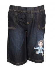 Dorris & Morris Black Denim Kids Favorite Hero Cartoon Shorts blue denim 2t