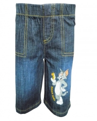 Dorris & Morris Blue Denim Kids Toddler Cartoon Tom & Jerry Shorts blue denim 2t