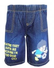 Alladin-Dorris & Morris Blue Kids/Toddler Cartoon Shorts blue denim 2t