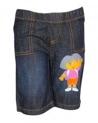 Dorris & Morris Dark Blue Denim Kids Toddler Cartoon Uno shorts blue denim 2t