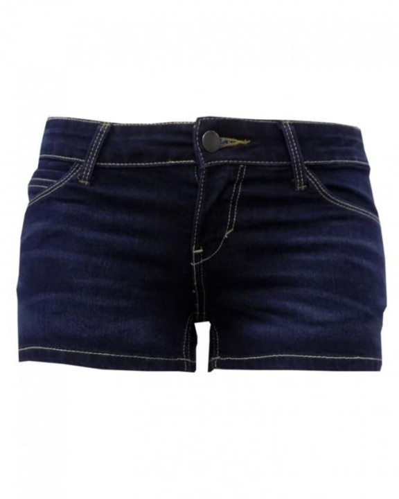 Alladin-Navy Blue Denim - Shorty Short Navy Blue Denim 0