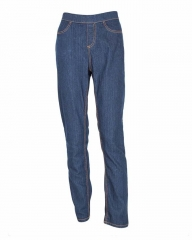 Alladin-Light Blue - Denim Pull On Jeggings Light Blue S