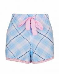 Alladin-Blue Pink With Multi Stripe Print Sleep Wear Boxer Short Blue Pink S