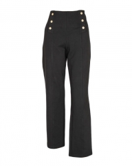 Alladin-Black - Ladies Slim Pants Black L