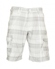 Alladin-White Checked Men's Stylish Shorts White 30