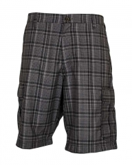 Alladin-Black Tip Checked - Men's Stylish Shorts Black 34