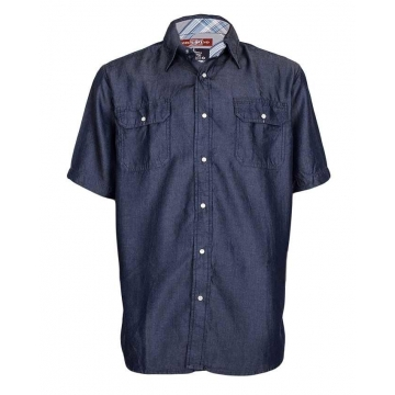 Alladin-Blue - Men's Denim Shirt Blue S