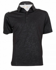 Alladin-Black Carbon Eye-Catching Polo Shirt Black Carbon l cotton