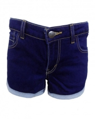 Alladin-Blue Denim Shorty Shorts Blue 7
