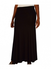 Alladin-Black Ladies Maxi Skirt black m