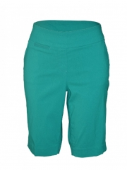 Alladin-Green-Ladies woven Bermuda Short green 8